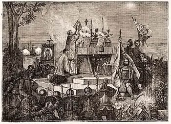 """Our Oldest City and First Thanksgiving"" -- ""Mass of thanksgiving St. Augustine, September 8, 1565"" -- Interesting article and little-known history at the click-through."