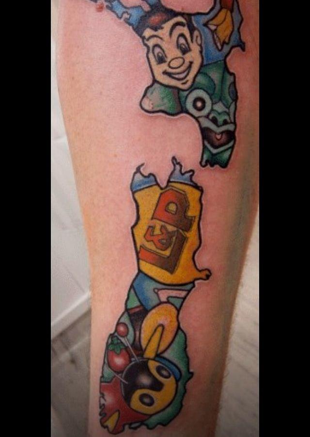 New Zealand kiwiana tattoo