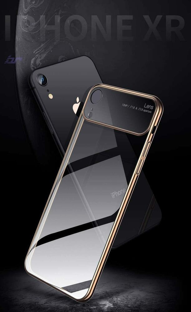 separation shoes d6f55 cea4f Luxury Lens Glass Case For iPhone XS MAX XR Cases Ultra Thin PC ...