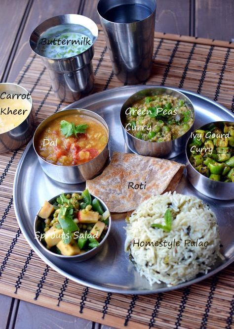 With the ongoing BM mega marathon, thalis have become quite popular among our BM group. I wish I had more time to make thalis for some of the states. But it is what it is, so I decided to make a thali for Cooking from Cookbook Challenge instead. Today's thali is an Ayurvedic Thali from Sukham Ayu. These are the dishes from the thali: All the above recipes in the book are very basic and can easily customized with the choice of veggies. All the dishes are simple to make, cooked with ghee, p...