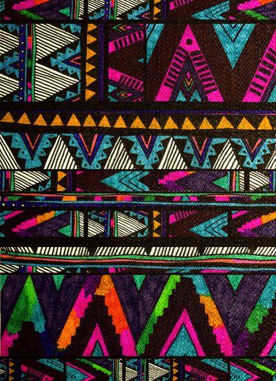 bohemian art print tribal ▲HUIPIL▲  by Kris Tate