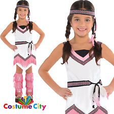 Native American Spirit Girls Wild West Indian Fancy Dress Party Costume