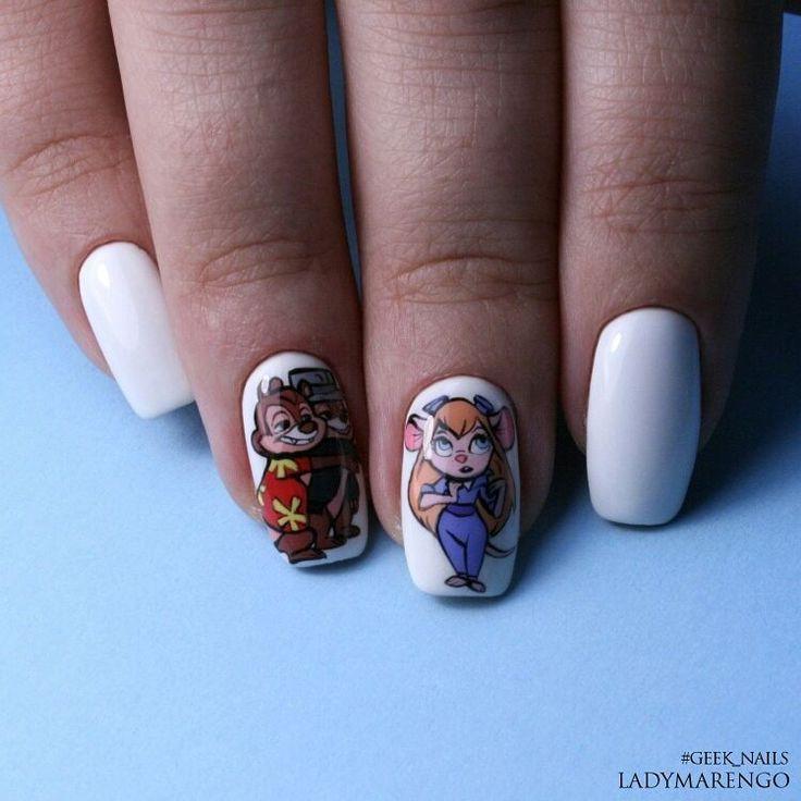 #geeknails  #шеллак #гельлак #нейларт #ногти #маникюр #дизайнногтей #nailart #naildesign #chipanddale