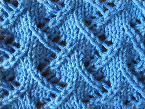 How To Knit A Zigzag Pattern : 1000+ ideas about Lace Knitting Stitches on Pinterest Knit Stitches, Lace K...