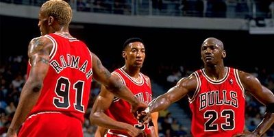 Chicago Bulls   Big 3, Dennis Rodman, Scottie Pippen, Michael Jordan