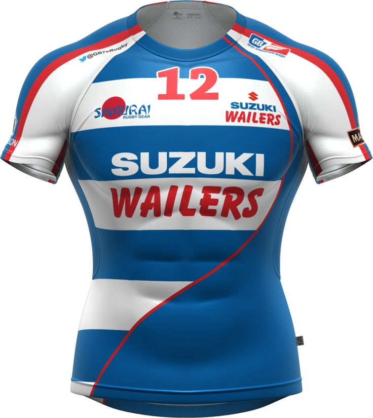 The Wailers7s team kit for the 2014 GB7s Series. Samurai Sportswear Iconix rugby shirt from www.samurai-sports.com