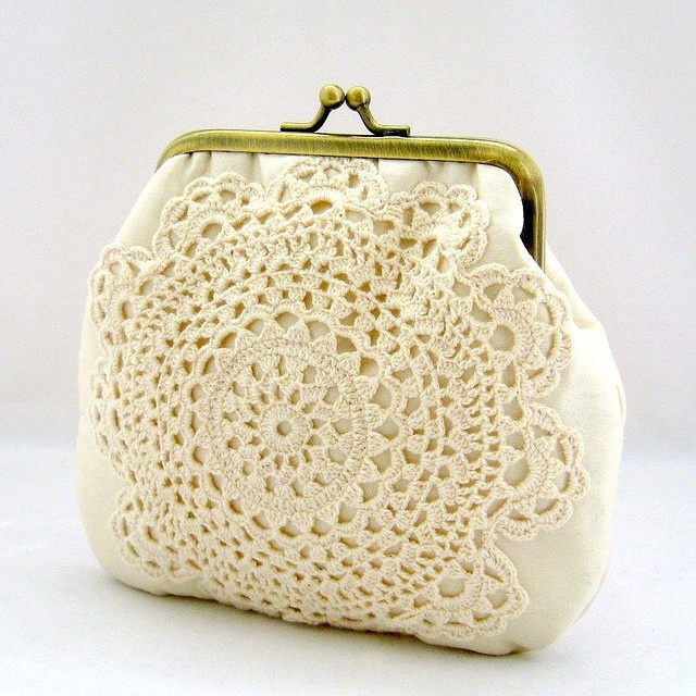 Vintage Doily Coin Purse