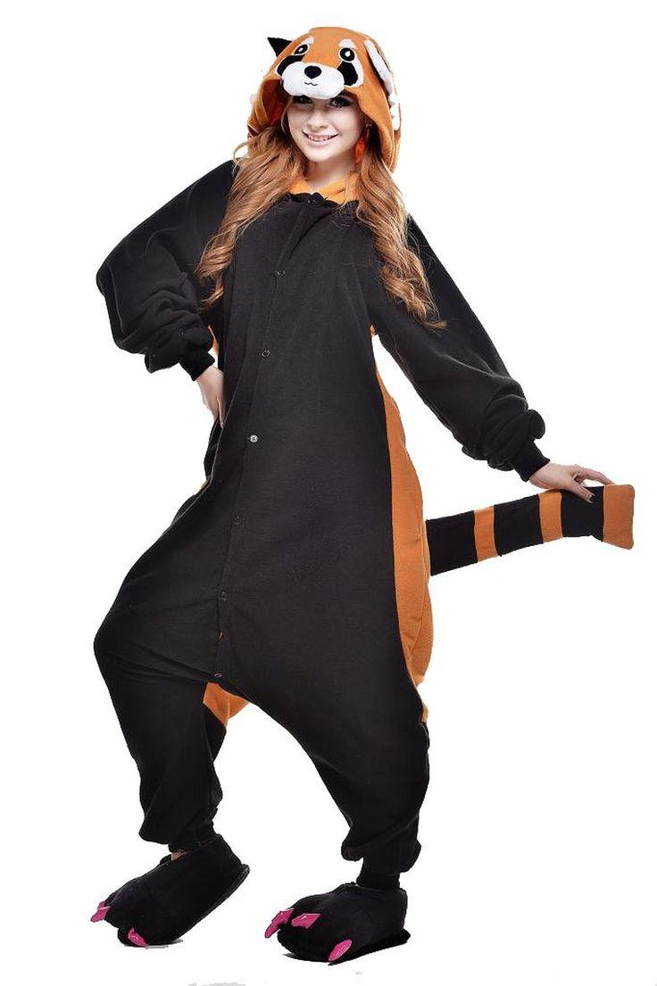 18a16cc806c45 kigurumi Pyjamas New Cosplay®   Ours   Raton laveur Collant Combinaison  Fête   Célébration Pyjamas Animale Halloween Noir Mosaïque Polaire – EUR €