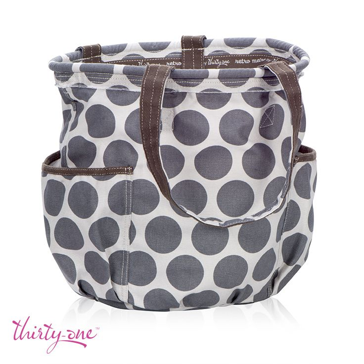 We <3 the Retro Metro Bag and are so excited to see it back in Grey Mod Dot!