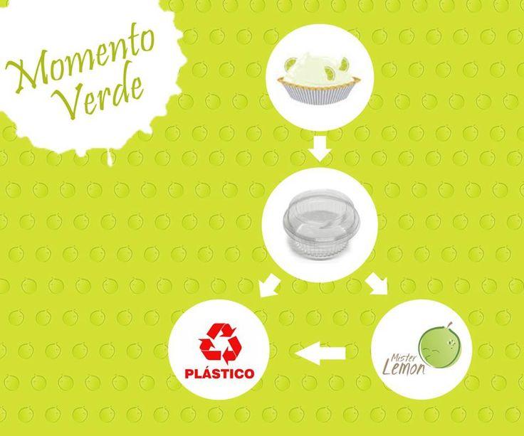 O Momento Verde é um espacinho que encontramos pra falar com você sobre sustentabilidade :)   As embalagens das nossas tortas são todas recicláveis, é só passar uma aguinha e jogar direto no lixeiro vermelho (para plástico). Você também pode guardar e nos entregar na próxima compra que nós colocamos junto com nossos reciclados! Faça a sua parte! #Sustentabilidade #MomentoVerde  #MrLemon #Reciclagem