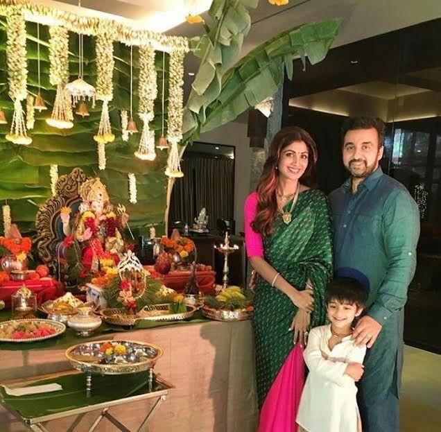 Green decor at shilpa shetty's home