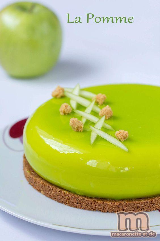 La pomme... entremets à la pomme - Macaronette et cie