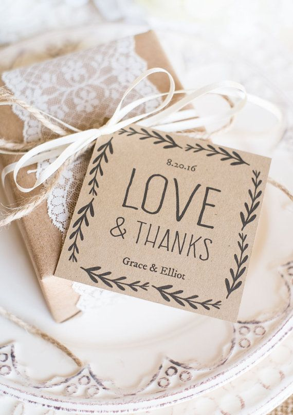 wedding favor tags printable rustic wedding