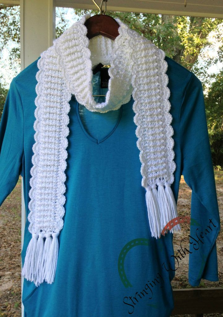 Over the Bridge Scarf is an easy to crochet pattern that is perfect for wearing with practically anything! Free pattern