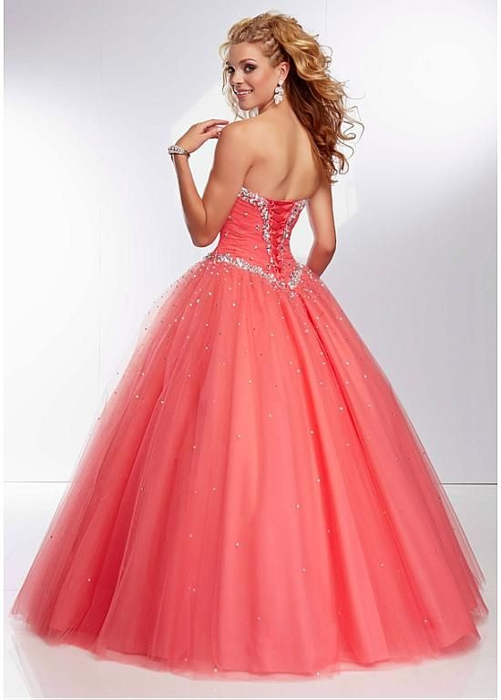 Stunning Tulle Sweetheart Neckline Floor-length Ball Gown Prom Dress