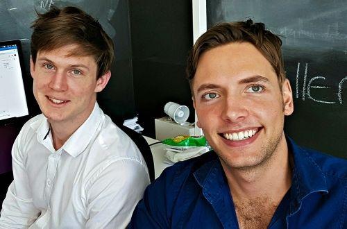 DataProphet co-founders, Frans Cronje (left) and Daniel Schwartzkopff