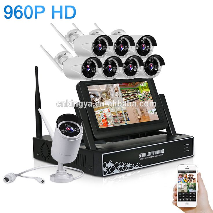 7 Inch Display Screen 8CH 960P Wireless CCTV System Wireless NVR IP Camera IR-CUT Bullet Home Security System CCTV Kit