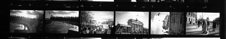 Berlin Wall  The fall of the Berlin Wall, 1990. Photographs I took with an early 1970's East German Praktica, using the obsolete East German ORWO film. Click photo to enlarge.
