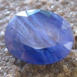 Safir Biru Pekat Oval 6.50 carat