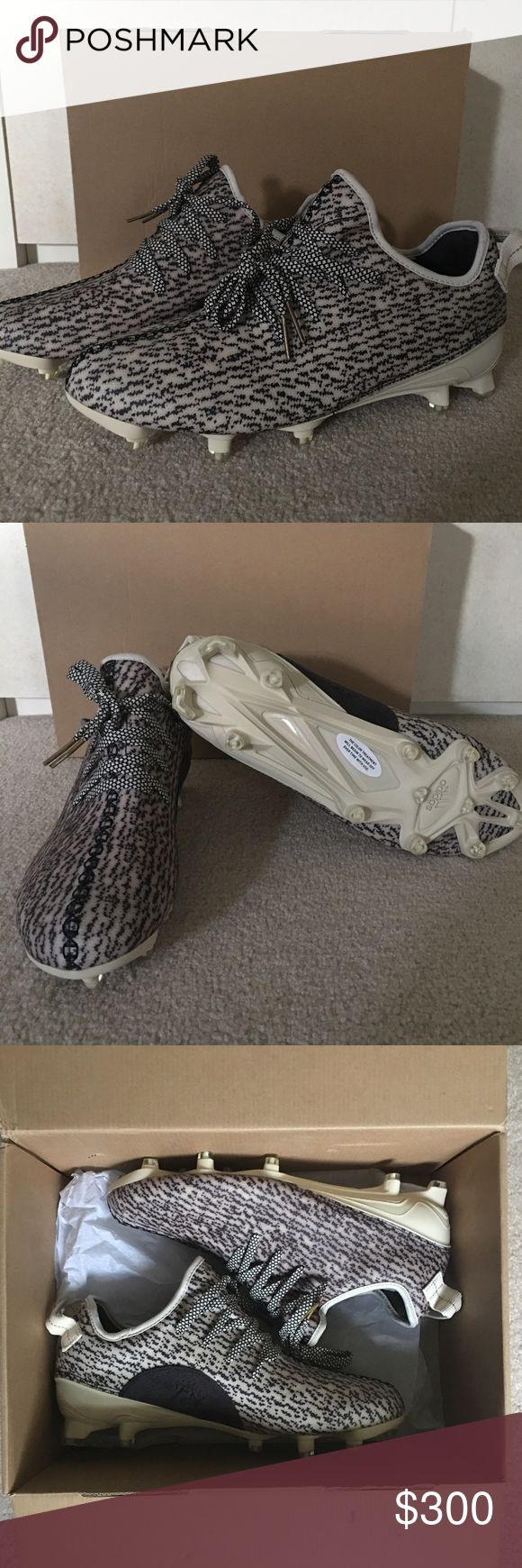 "Men's Yeezy 350 Cleats ADIDAS YEEZY BOOST 350 ""TURTLE DOVE"" CLEAT  Style Code: B42410 - LIMITED EDITION - Released 9-15-2016 for $250 + shipping. Just looking to recoup my cost.  Color: Turtle Dove; Core White/Core Black/Metallic Gold  Size: US Men's 10 and 11 available  100% AUTHENTIC - BRAND NEW (DEADSTOCK)  Shipped Double Boxed Yeezy Shoes Athletic Shoes"