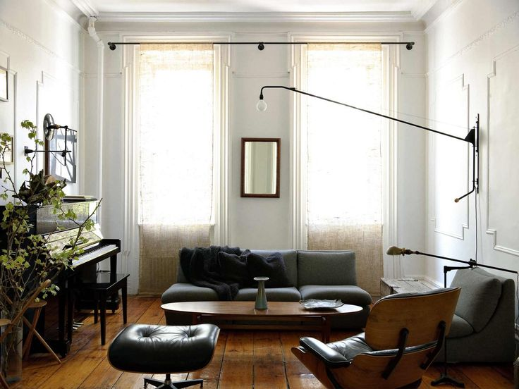 Floor to ceiling linen window panels - 333 - Brooklyn New York Apartment by Workstead
