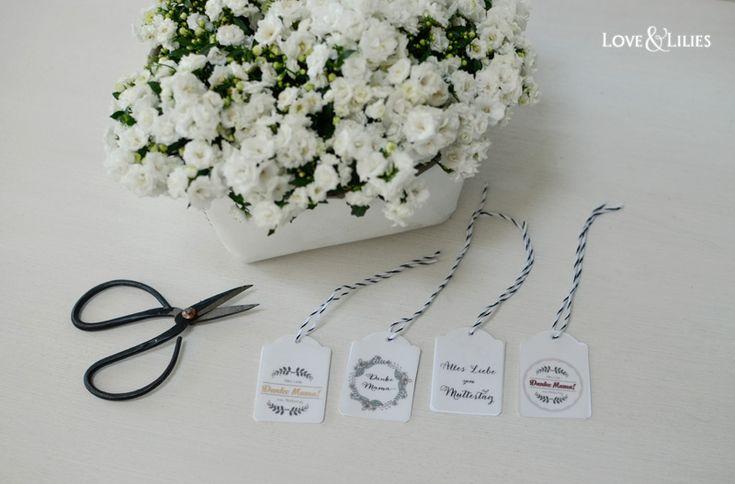 LoveAndLilies.de // Zum Muttertag: Muttertagskarten, Geschenk-Anhänger & wunderschöne Blumen