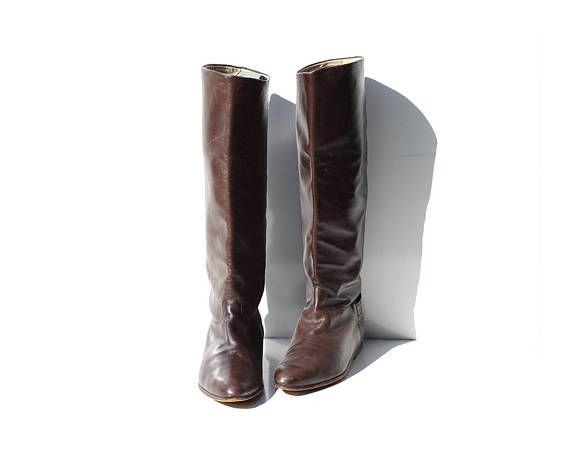 e4a094e2fd06c vintage Womens brown leather Stephane Kelian made in France pull on ...