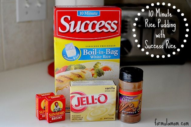 10 Minute Rice Pudding Recipe Ingredients #SuccessRice