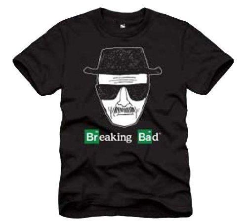 Breaking Bad Walter White Heisenberg Adult Black T-shirt