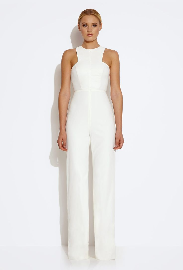 this aqaq white jumpsuit is so versatile and classy you can wear it
