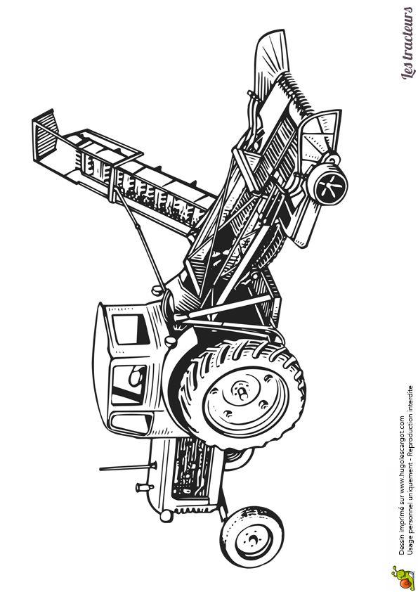 24 best images about Coloriages de tracteurs et monster ...