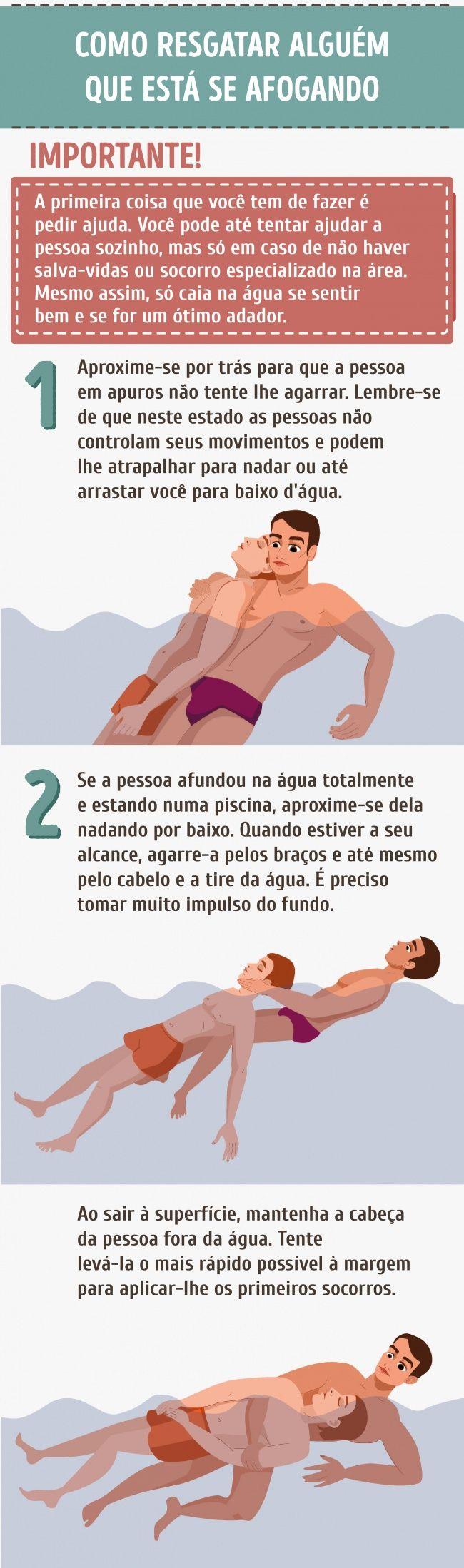 Dicas de primeiros socorros para casos de afogamento