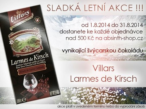 Special summer events - chocolate Villars Larmes de Kirsch - free for orders over 500 CZK !!!