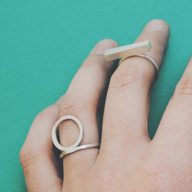 Silver rings, sterling silver