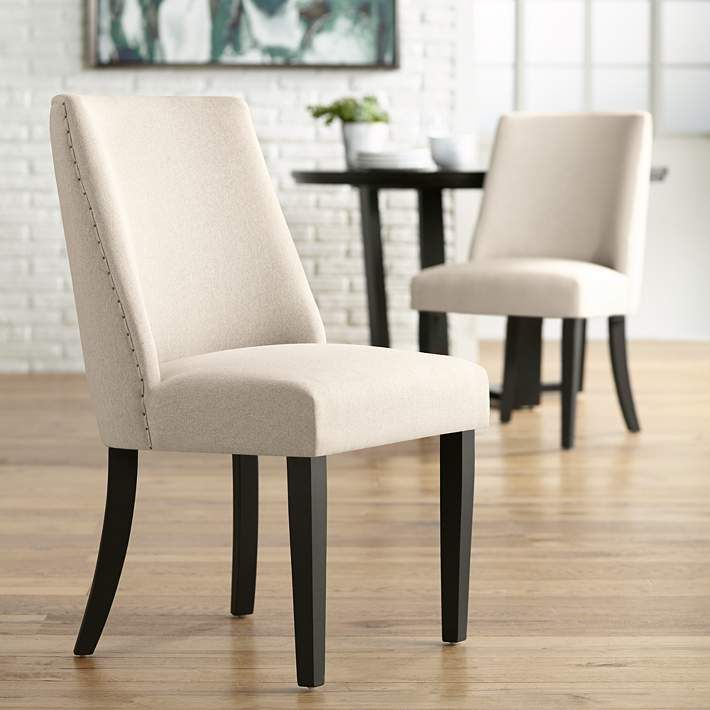 buy popular 74750 4da54 Manchester Parsons Cream Upholstered Dining Chairs Set of 2 ...