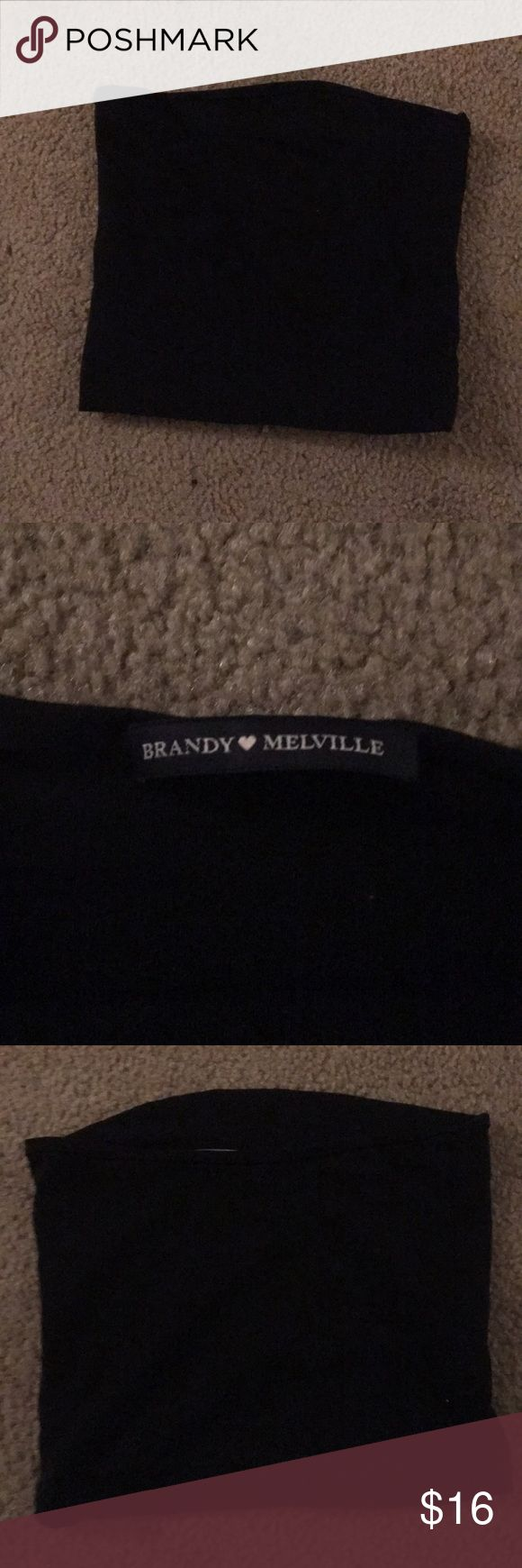 brandy melville black tube top from brandy melville, good quality, never been worn, selling because i bought 2 on accident Brandy Melville Tops Crop Tops