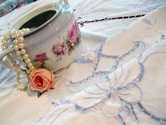 Madiera Lace Large Tablecloth Wedding Supplies Rectangular