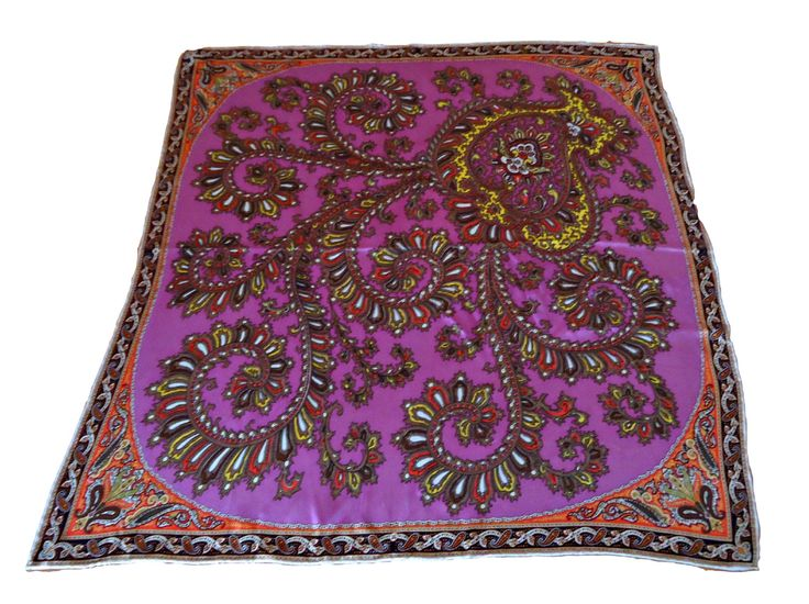 Vintage Scarf Designer Talbot's Silk Paisley  D20 by treasurecoveally on Etsy