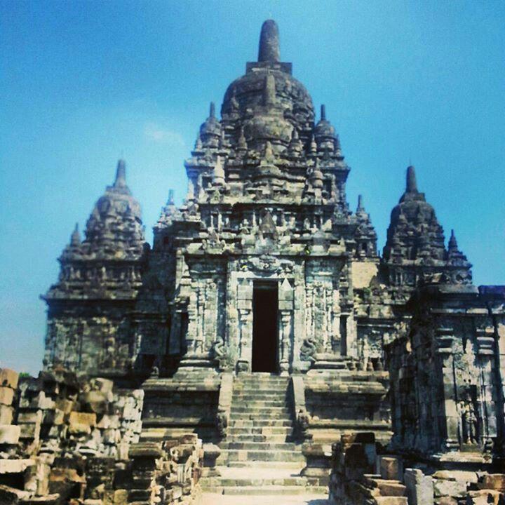 Candi Sewu Temple in the Parambanan Complex in Jogjakarta Indonesia.