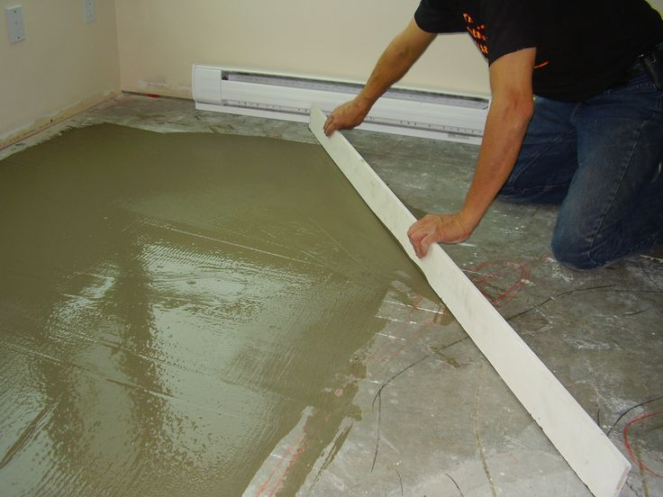 Leveling the substrate