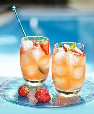 Strawberry & mint stoli vodka lemonade