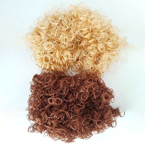Dolls hair/2 colors per pack/Doll parts/Doll making by LilCuddles