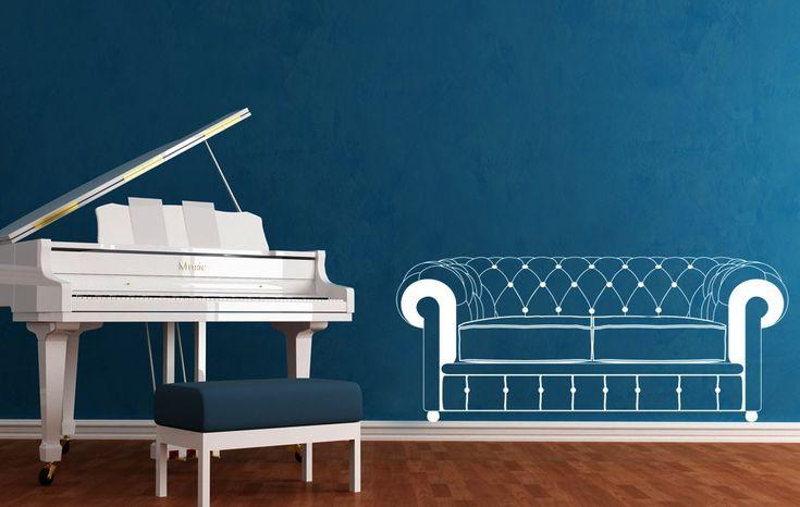 Chester divano > Collezione Oggetti #wallstickers #mycollection #room #colour #design #home #office #living #stuff #sofa