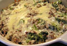 Low Carb Rezepte: Hackfleisch, Broccoli Alfredo - Low Carb