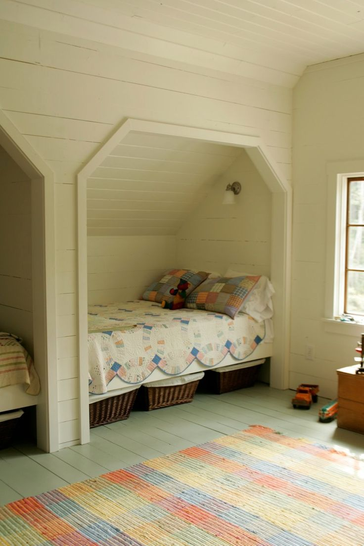 17 best ideas about window bed on pinterest bed ideas for Attic loft bed