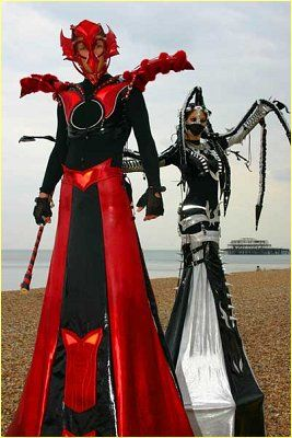 Scary stilt costume - photo#21