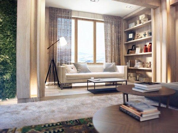 Design D'intérieur Près De La Nature Rich Wood Themes Et Jardins Verticaux Intérieurs