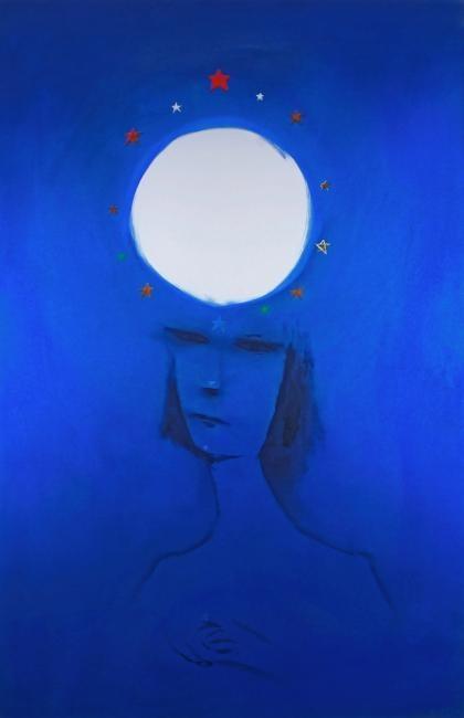Charles Blackman ~ Starsigns Moon, 1984