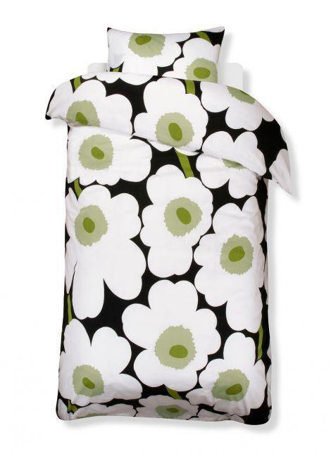 Unikko duvet cover set (black,white) |Décor, Bedroom, Duvet covers | Marimekko