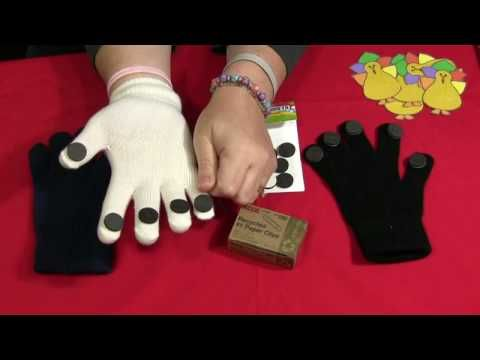 How to make a magnetic finger puppet glove.  This website has lots of great preschool teaching videos.